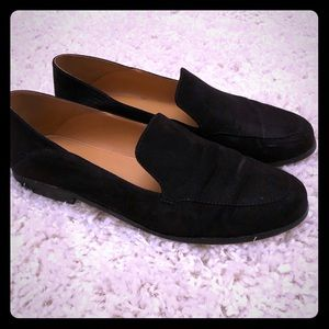 J.Crew black suede loafers